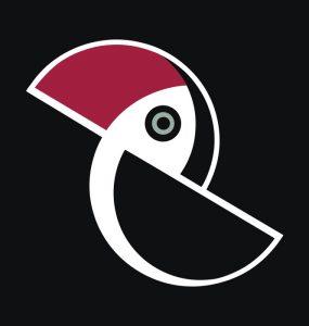 Tukan na czarnym tle - autor grafiki Ryszard Kaja
